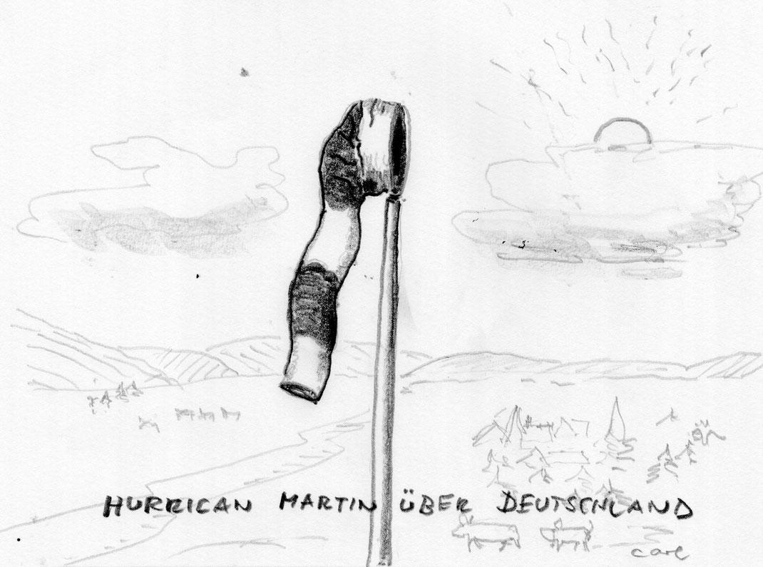 Hurrican-Saison in der Karibik, aber auch bei uns