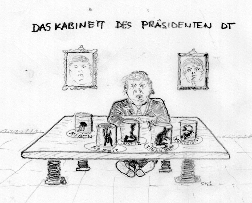 Der künftige Präsident Donald Trump mit seiner Mafia - Herbst 2016