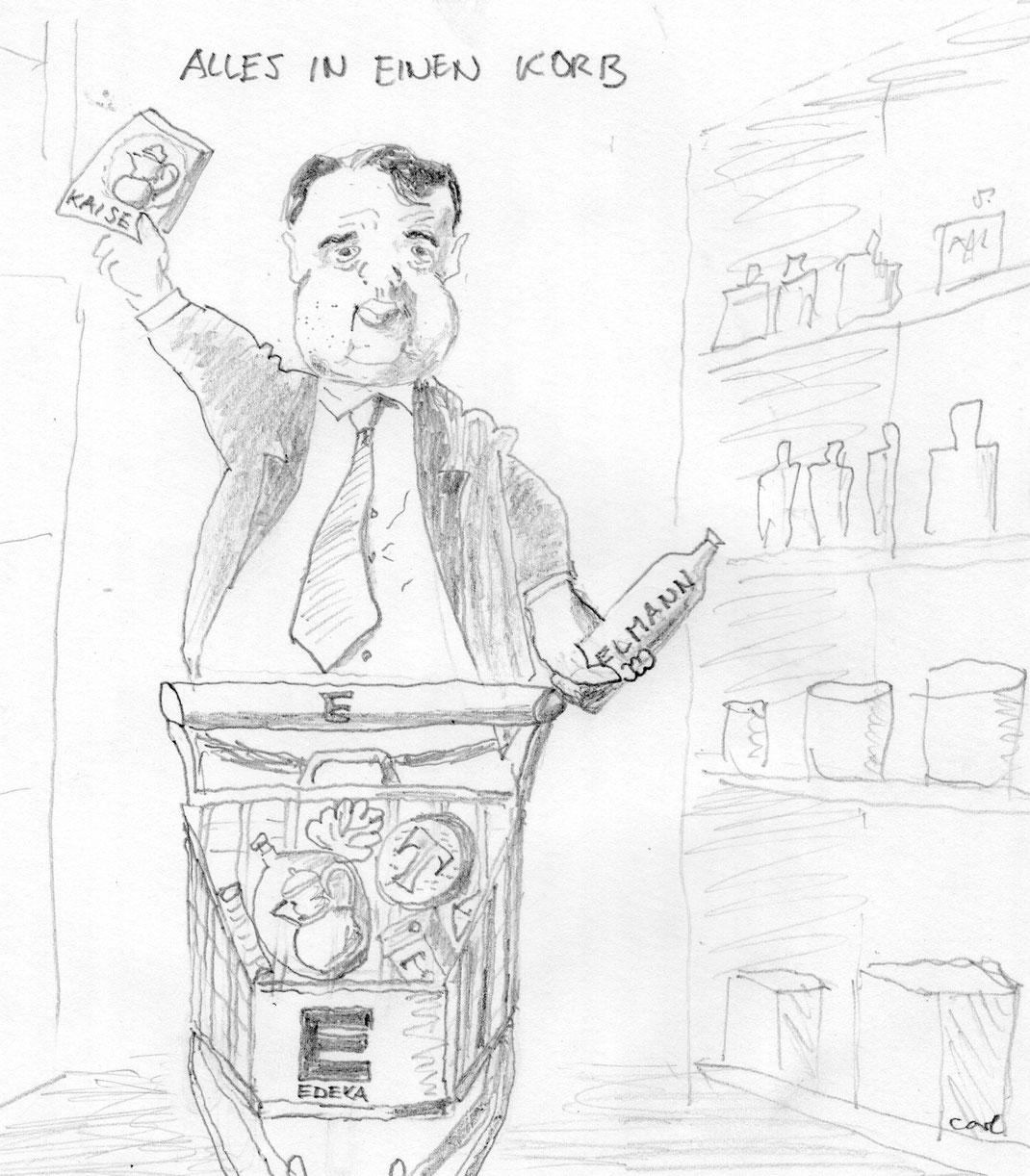 Wirtschaftsminister Gabriel zimmert ein Monopol - Frühjahr 2016