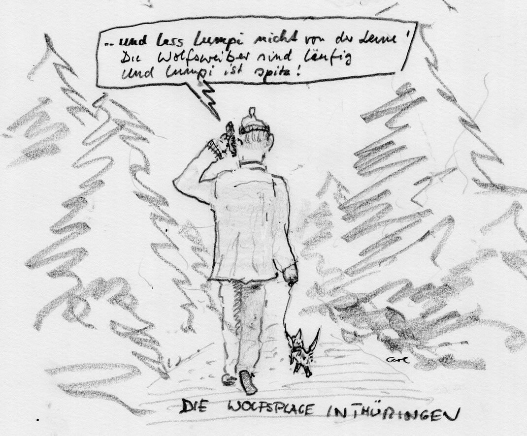 Geile Hybridwölfe im Thüringer Wald