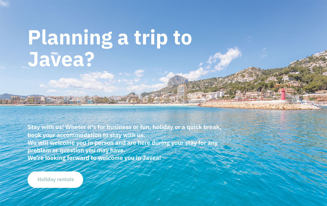 Holiday rentals in Javea with MMC Property Services
