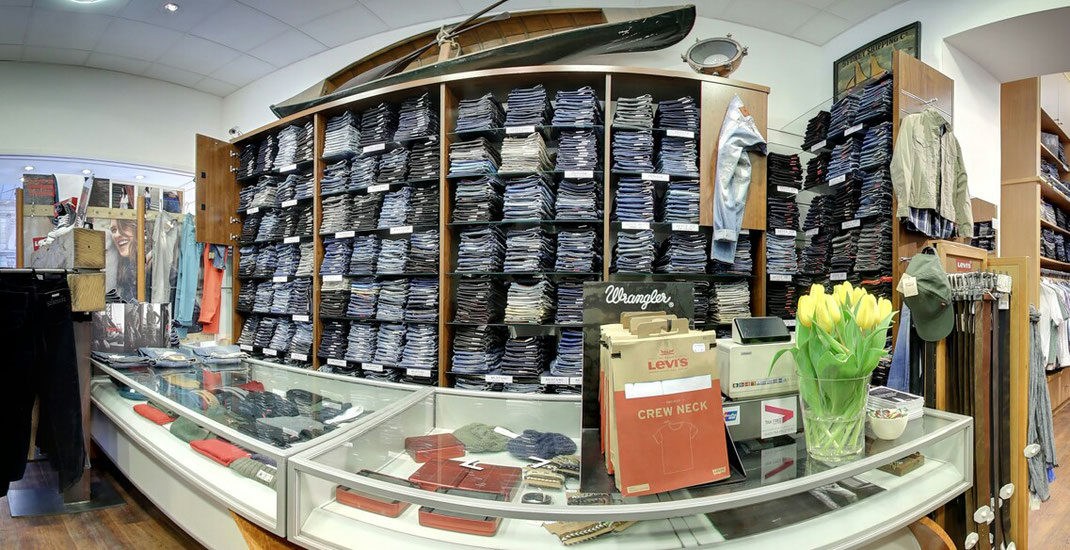Jeans, Shop, Laden, Panorama