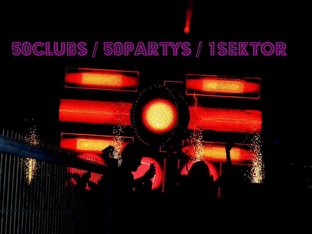 1live Zweiter Zehnter | 50 Clubs 50 Partys 1 Sektor Nightlife
