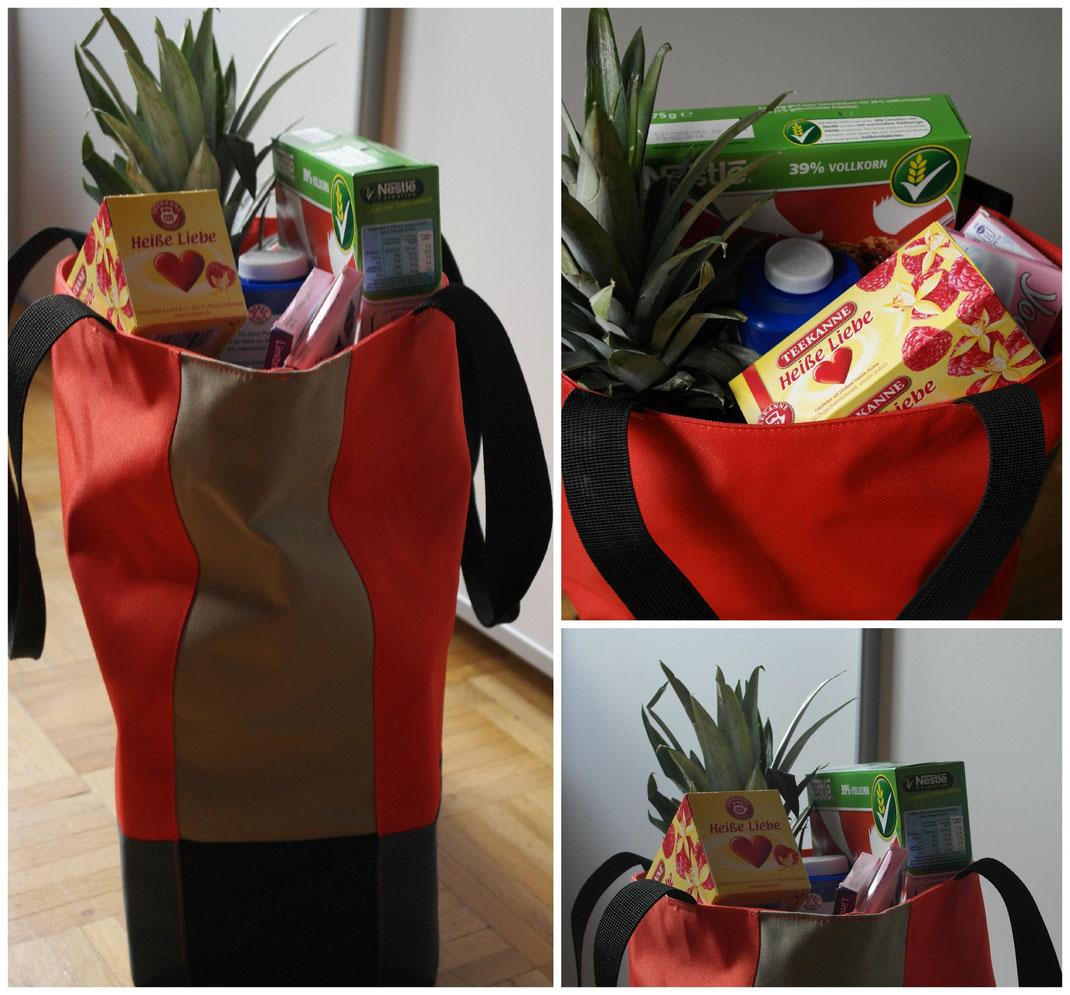Lifestyle Love   Reisenthel Patchwork Bag Mandarin im Einsatz