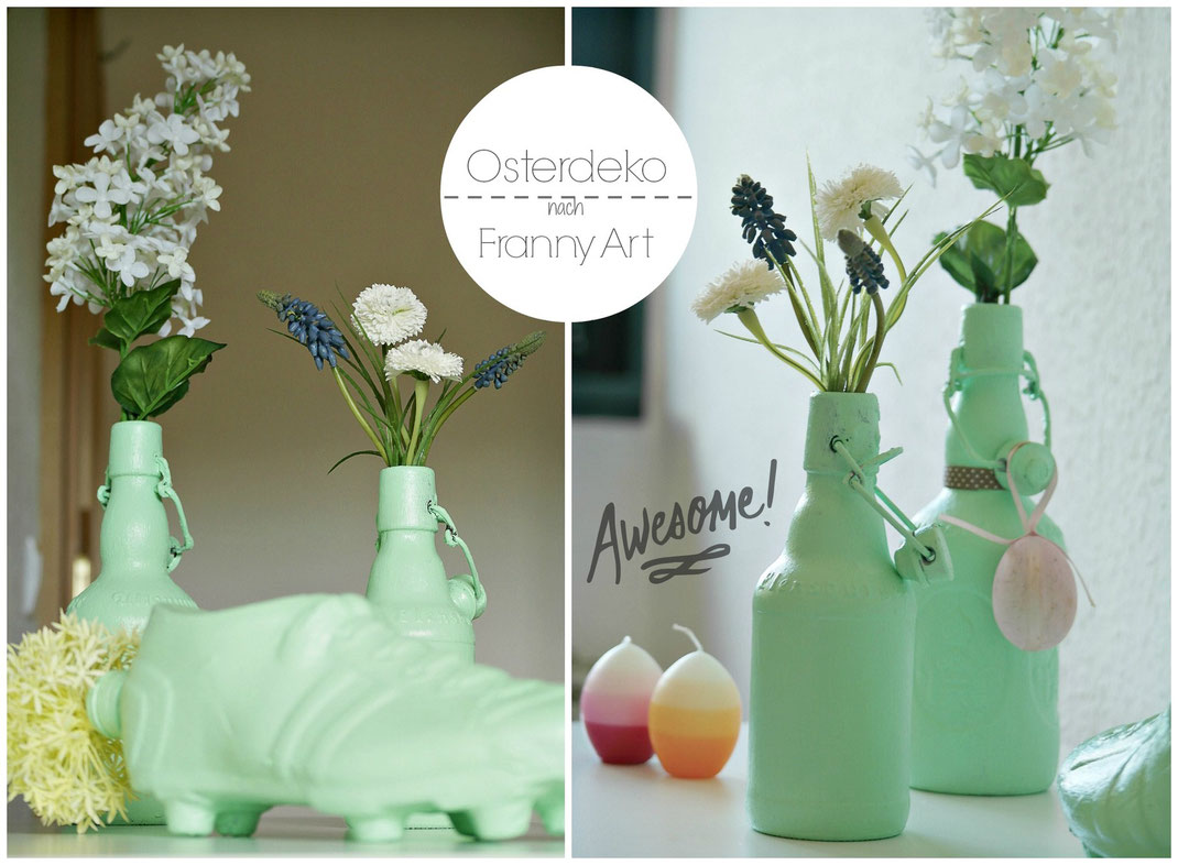 Mint Vasen DIY | Osterdeko einmal anders und nach Franny Art