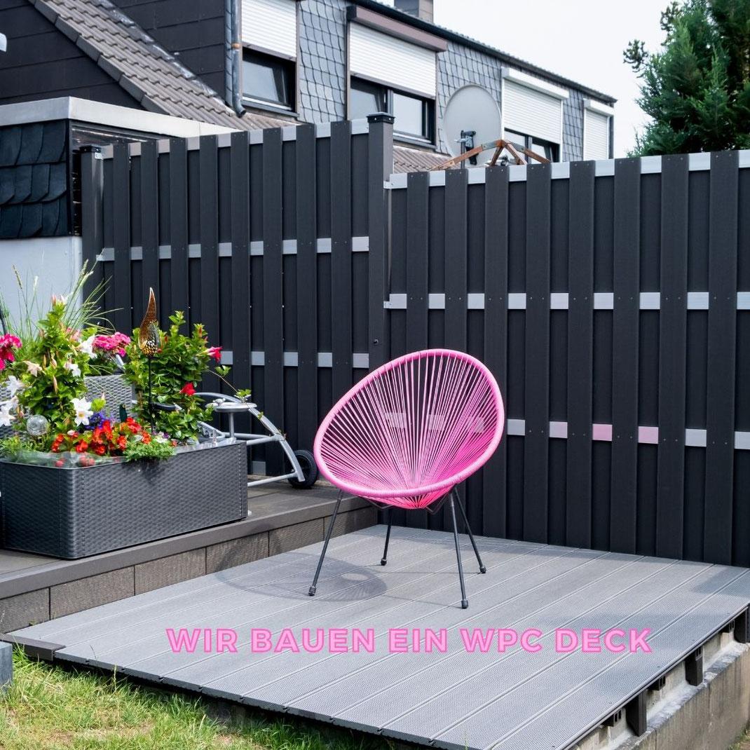 Zieht es Euch bei schönem Wetter auch in den Garten? In Lockdown Zeiten haben wir leider keine andere Möglichkeit als uns die eigenen vier Wände zu verschönern, weswegen wir im letzten Jahr das Projekt WPC Deck für unseren Whirlpool gestartet haben | Hot Port Life & Style | 30+ Style Blog