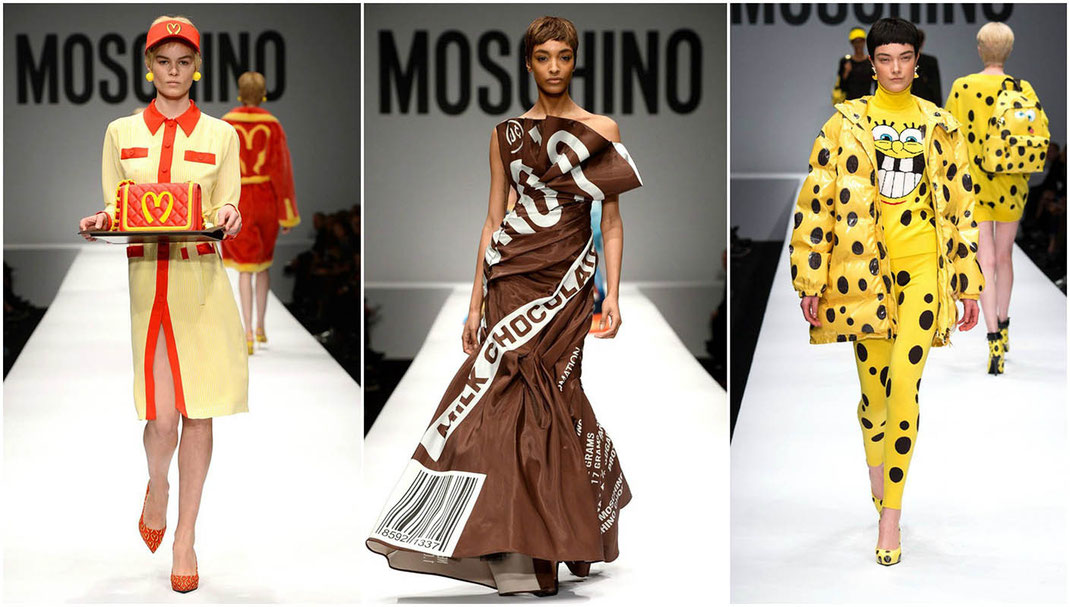 Moschino Crazy Fashion Show | From Junk Food to Cartoon Dresses