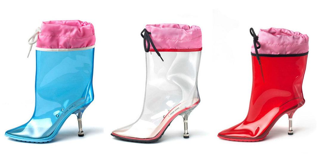 Miu Miu Rain Heels Fashion Lifestyle Trend