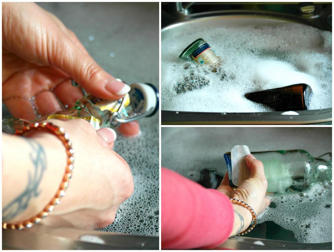Mint Vasen DIY | Vorbereitung