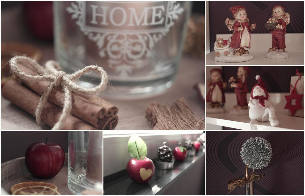 Adventszeit ist Dekozeit | Wie man sich ein gemütliches Zuhause bastelt erfahrt Ihr auf Franny´s Lifestyle Blog | Äpfel & Zimtstangen sind das Highlight der Adventszeit