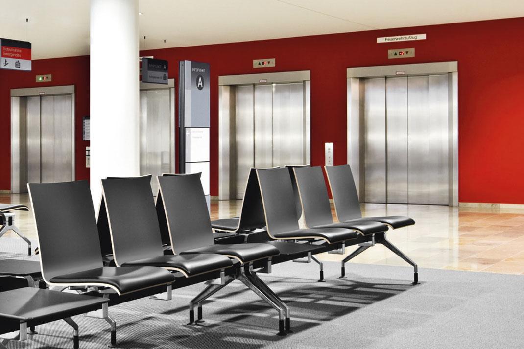 Dauphin, Amico,  Banksystem, Wartebereich, Ambiente, Design, Aluminum
