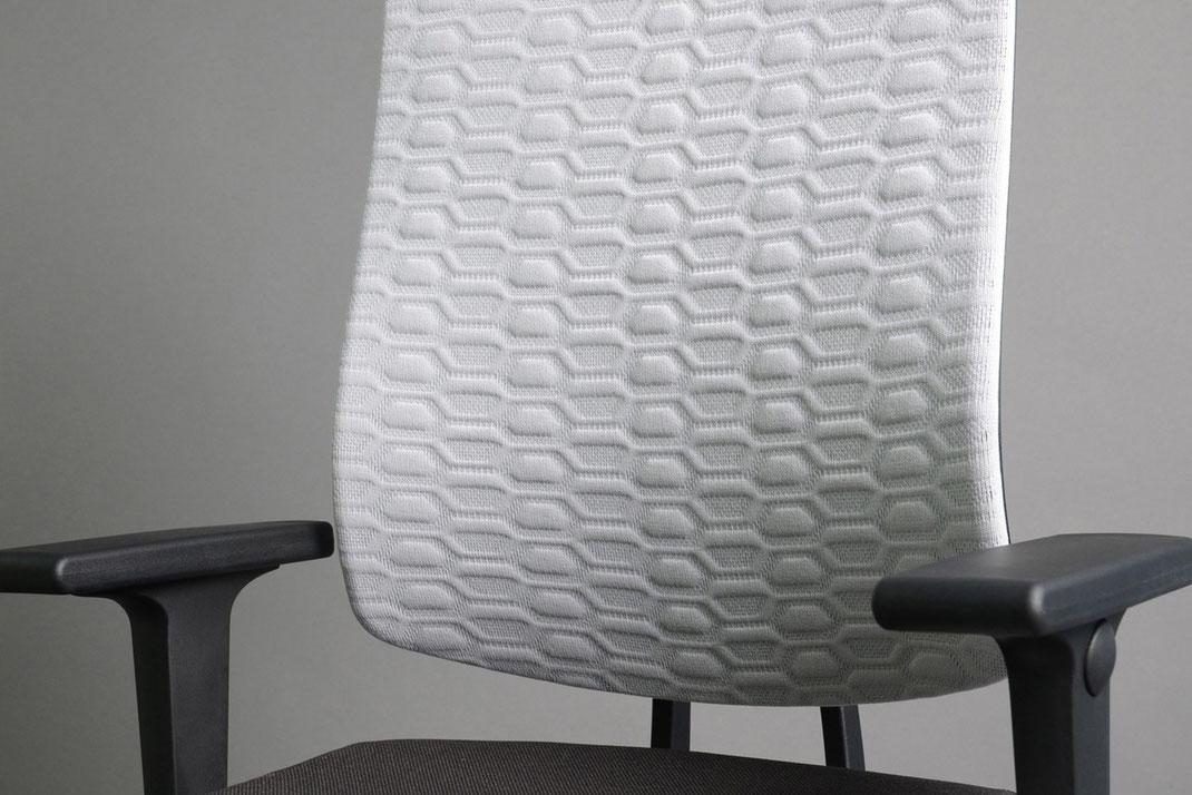 3D Strick, Textildesign, Netzbespannung, Ulmer Strickdesign GmbH, atmungsaktiv, verschnittoptimiert