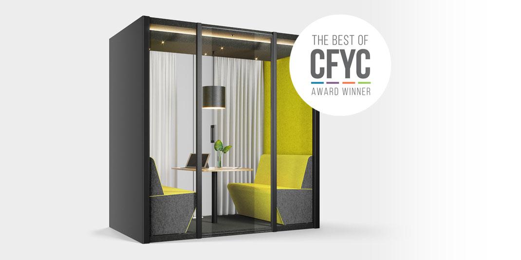 Bosse Dialogue Cube 2.0, Bosse Design Höxter, Raum in Raum System, CFYC Award 2020, Winner, Meeting, Besprechung, Büro, Design