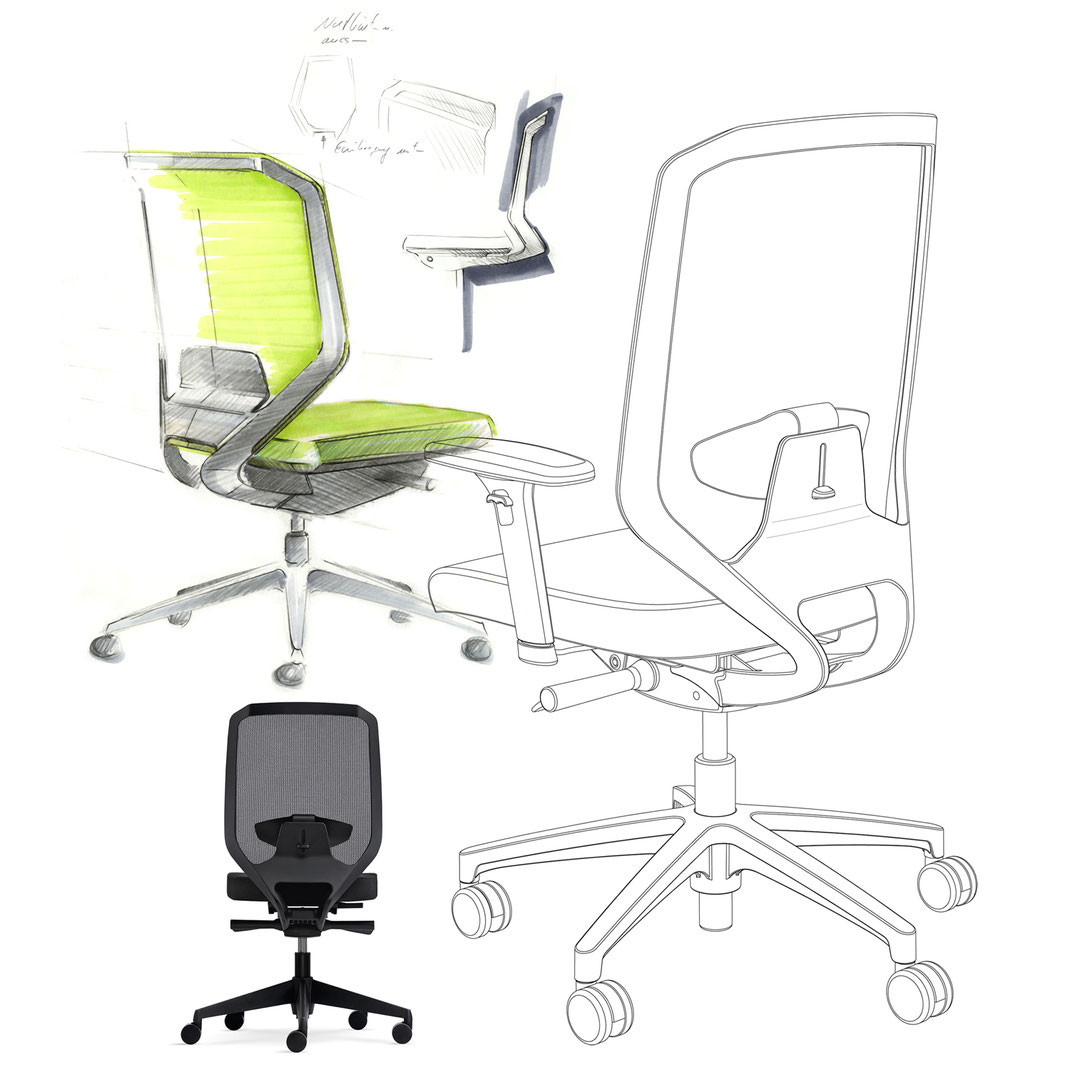 Entrylevel Chair, Drehstuhl, Preiseinstieg, Netz, Design, mesh backrest