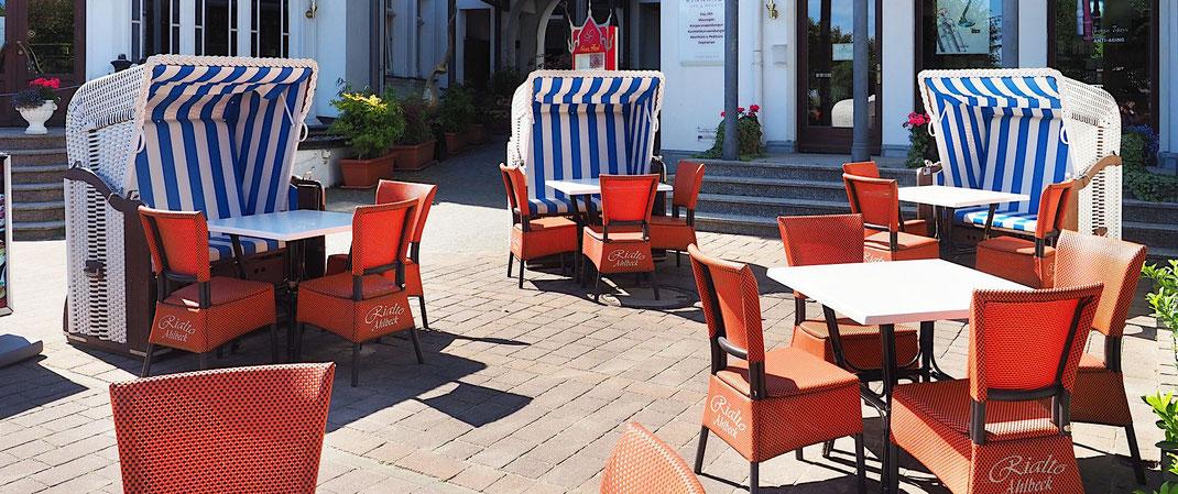 Strandkorb für Gastronomie Terrasse