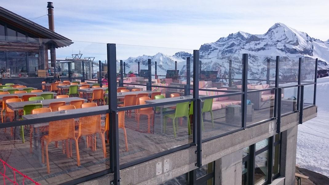 Gastronomie Terrasse im Winter
