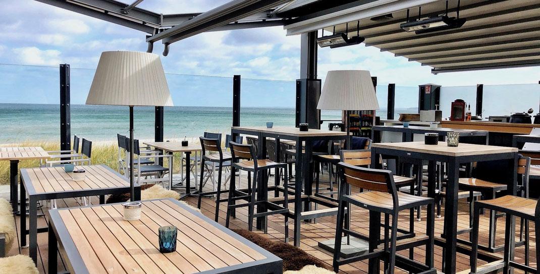 Gastronomie Terrasse am Meer