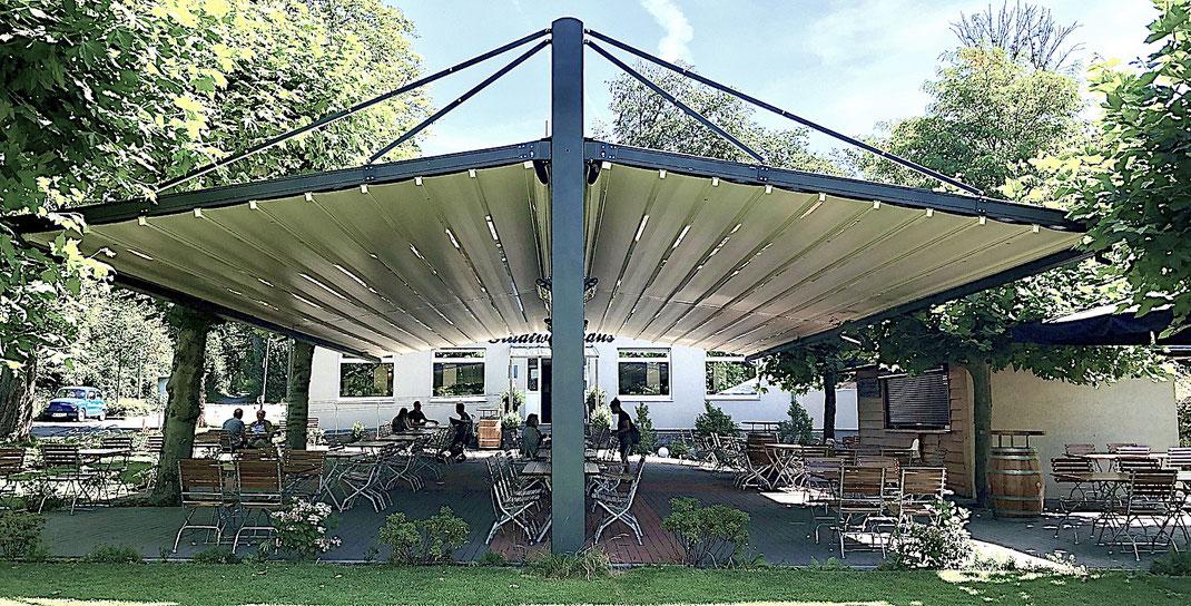 Überdachung für Gastronomie Terrasse