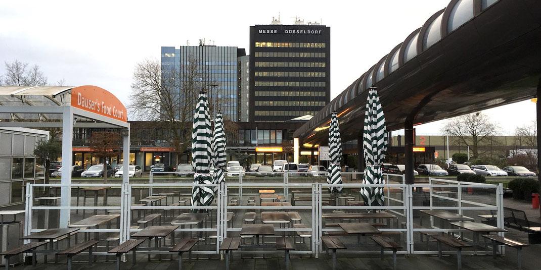 Windschutzanlage auf Gastronomie Terrasse