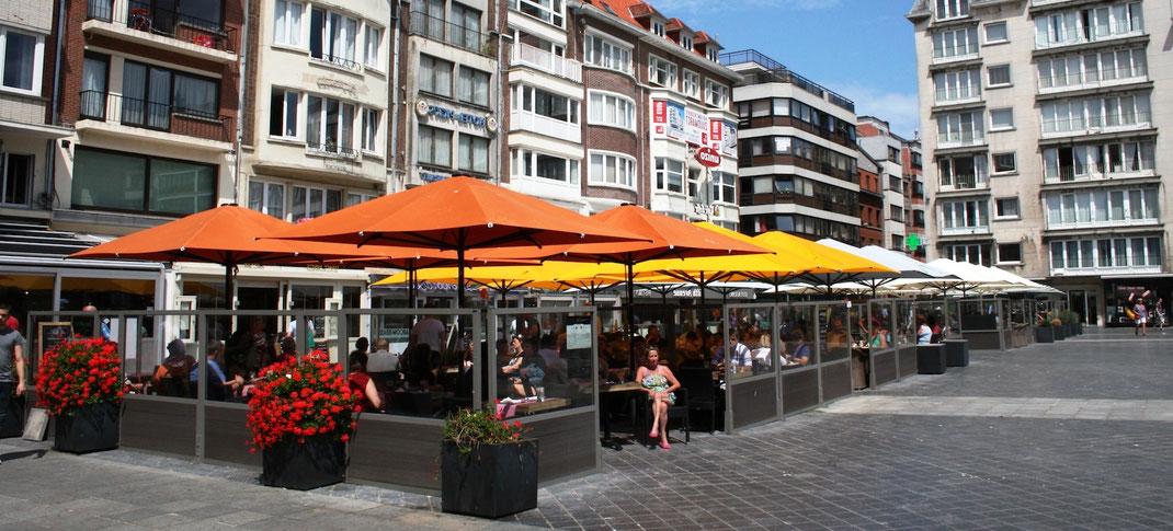 Stabiler Windschutz in der Fußgängerzone