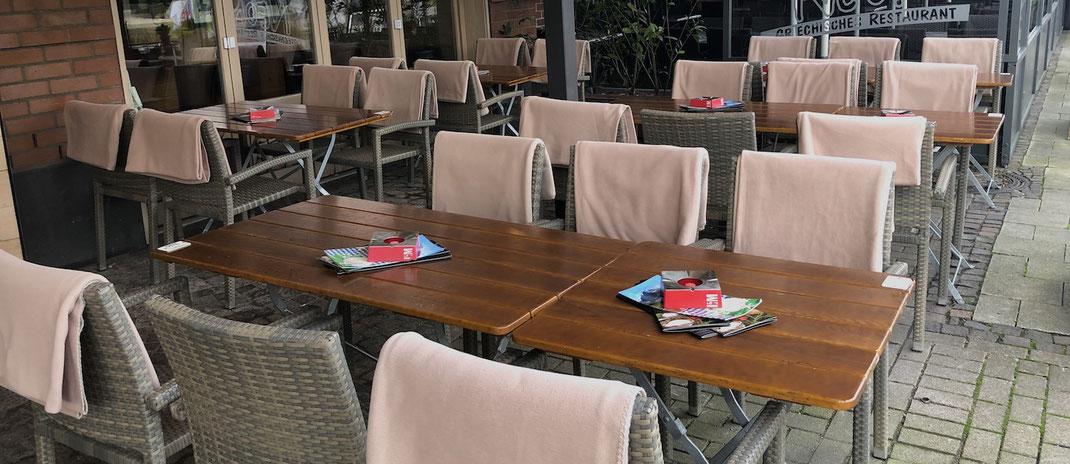 Fleece Kuschel Decken Gastronomie Terrasse