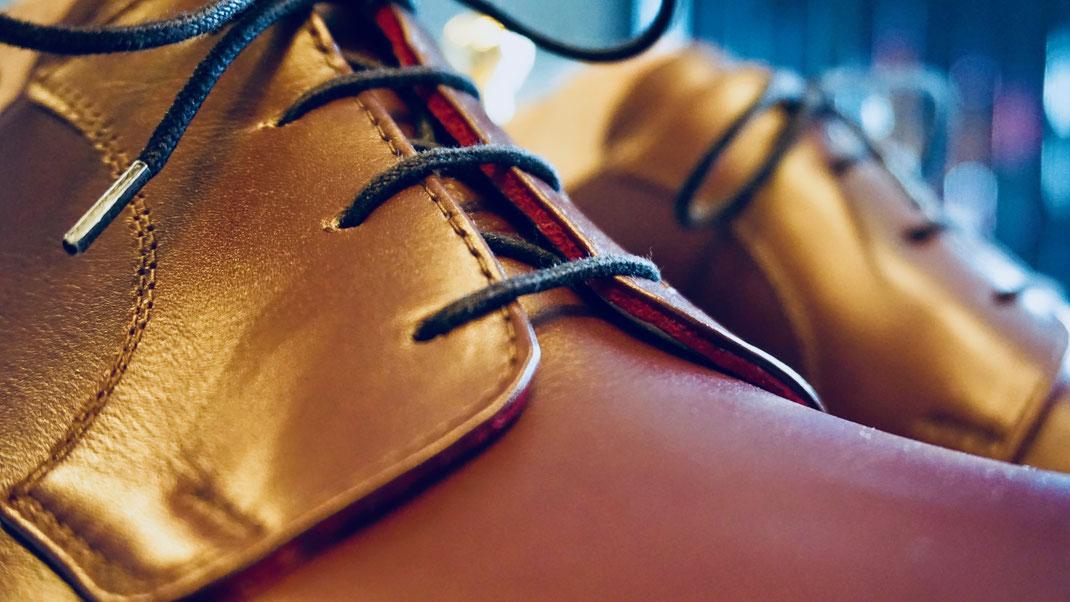 Handmade Mass-Schuh Herren Echtleder braun