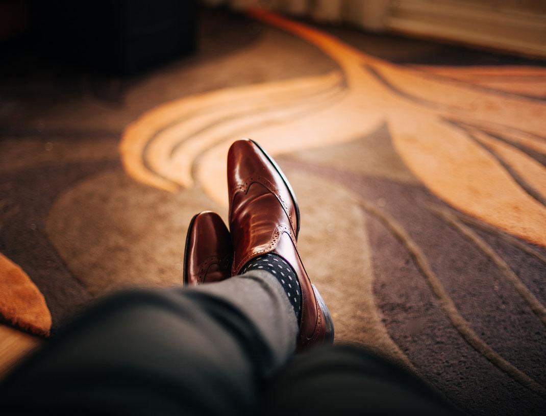 brauner Herren-Schuh gepflegt