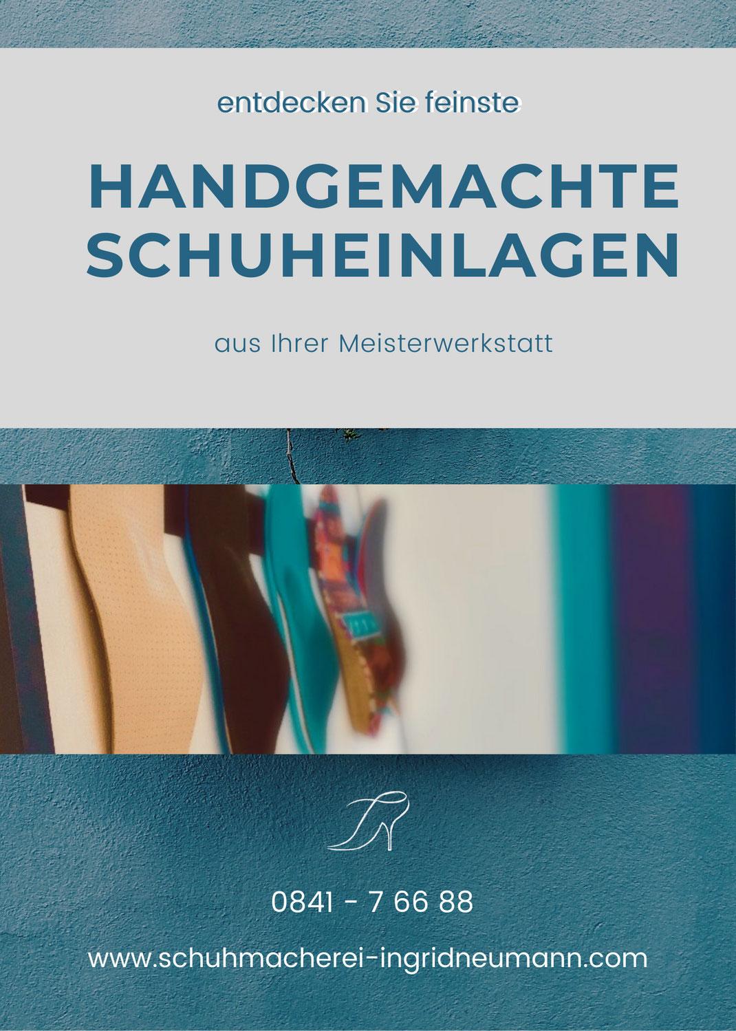 Handmade Schuheinlagen nach Maß April 2021