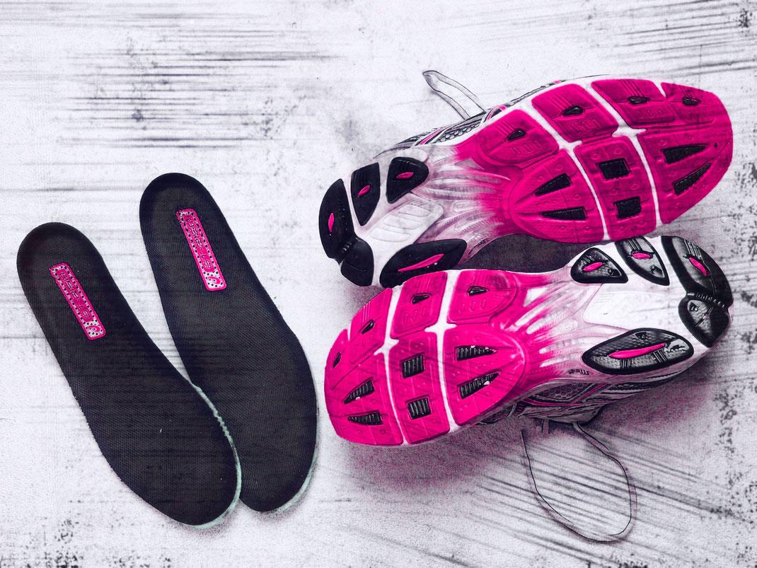 Runningshoes mit passenden Schuheinlagen