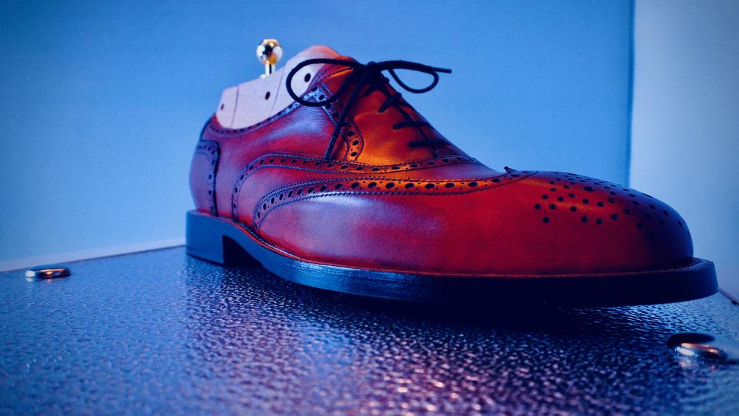 Schuhstrecker 3 teilig in Vollholz für Herren-Maßschuh