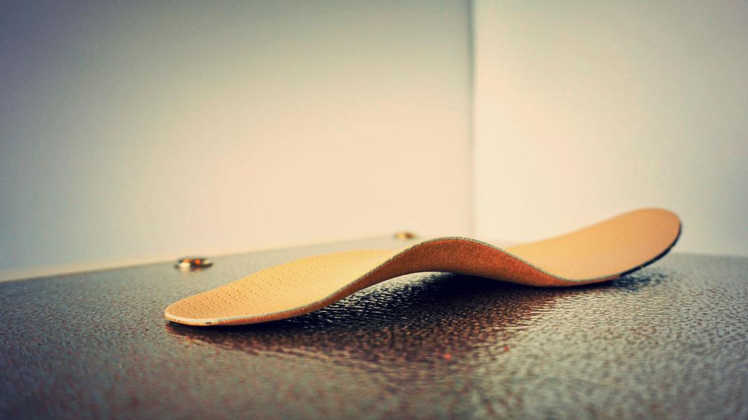 Einlage für Schuhe aus Echtleder