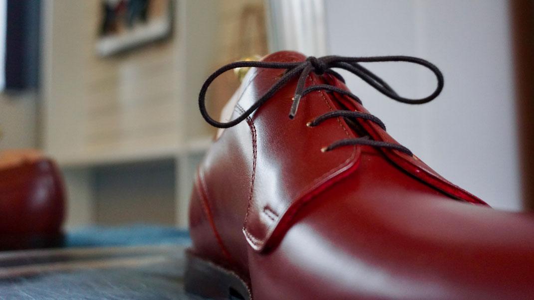 aktueller Mass-Schuh Herren hochwertiges Echtleder komplett verarbeitet in Handarbeit