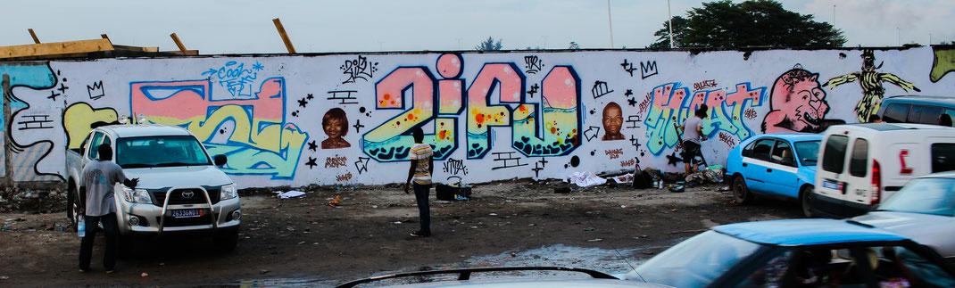 Fresque réalisée avec Cooz, Zifu, Swat et Ange Arthur