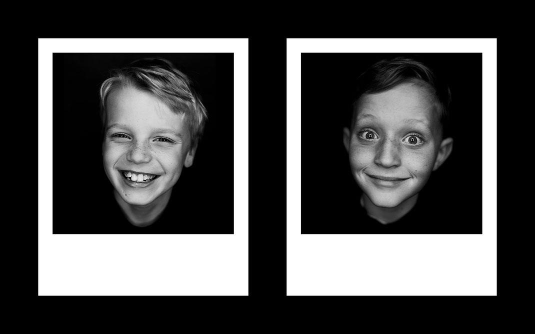 Polaroid, Portrait, Porträt, Wandbild, Bild, Wand, Schwarz weiß, Black white, s/w, gesicht