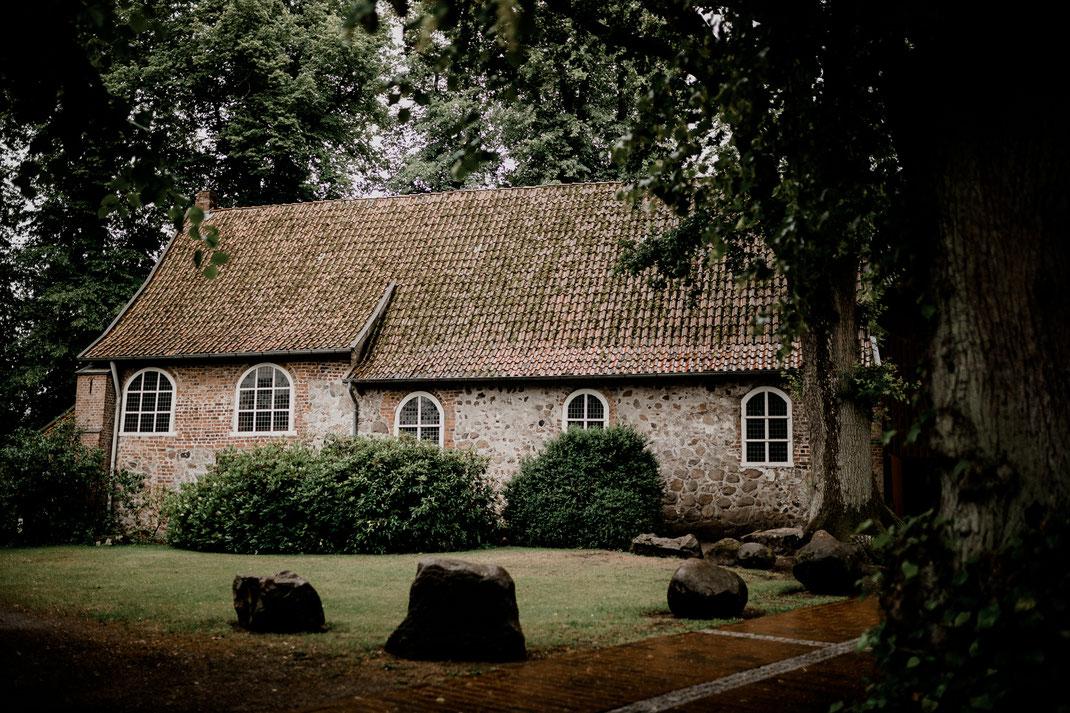 kirche, moisburg, steinkirche, trauung, brautpaar