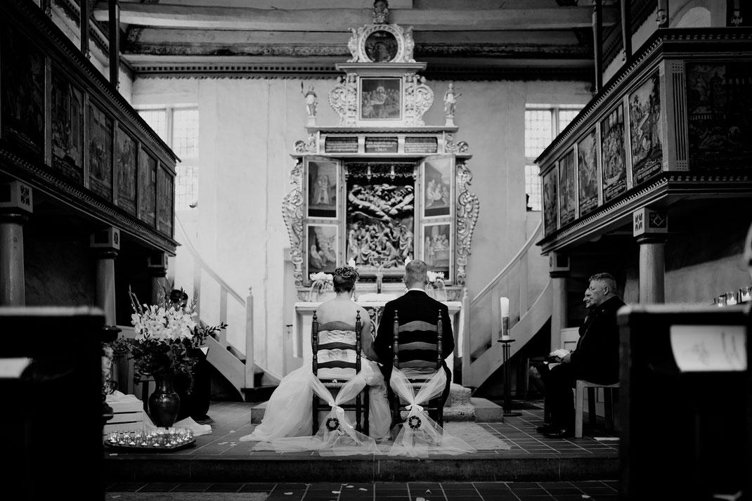 moisburg, kirche, steinkirche, trauung, kirchliche trauung, buxtehude, innen,