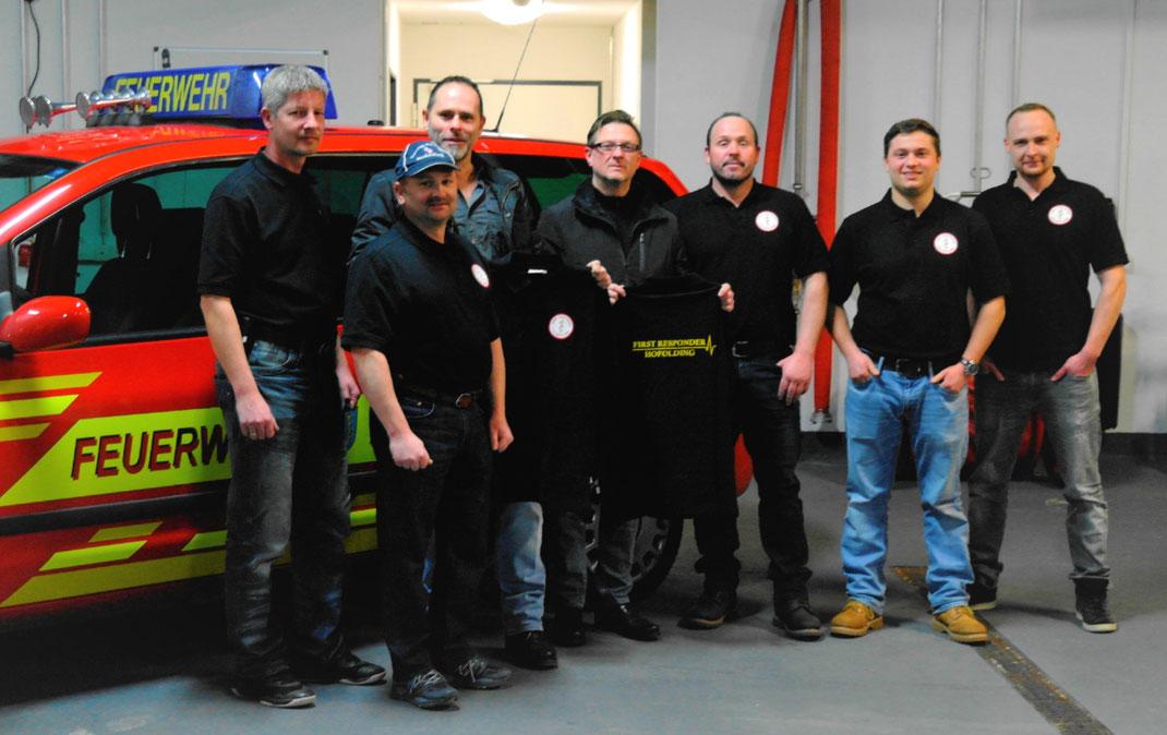 Namen von links nach rechts:  Marcel Otto, Robert Kippes, Robert Bründl, Robert Rinkes, Matthias Berger, Maximilian Jaensch, Andreas Tränker