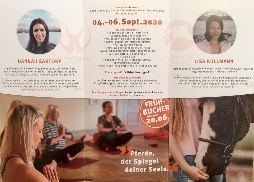 Flyer Energetic Flow – Lisa Kullmann & Hannah Sartory