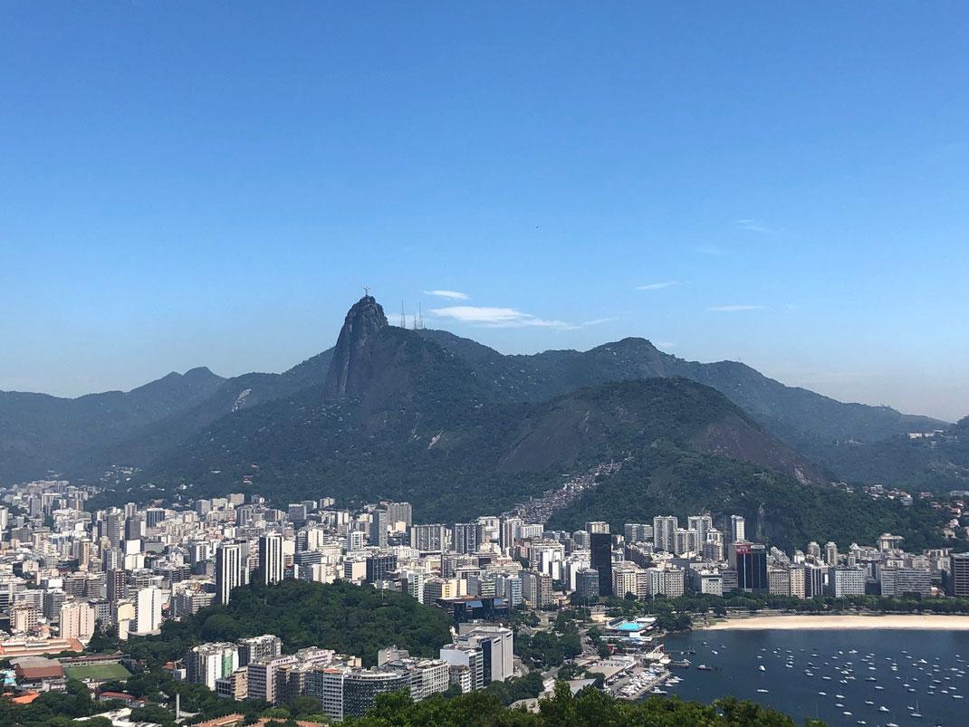 Vue sur Botafogo et le Corcovado