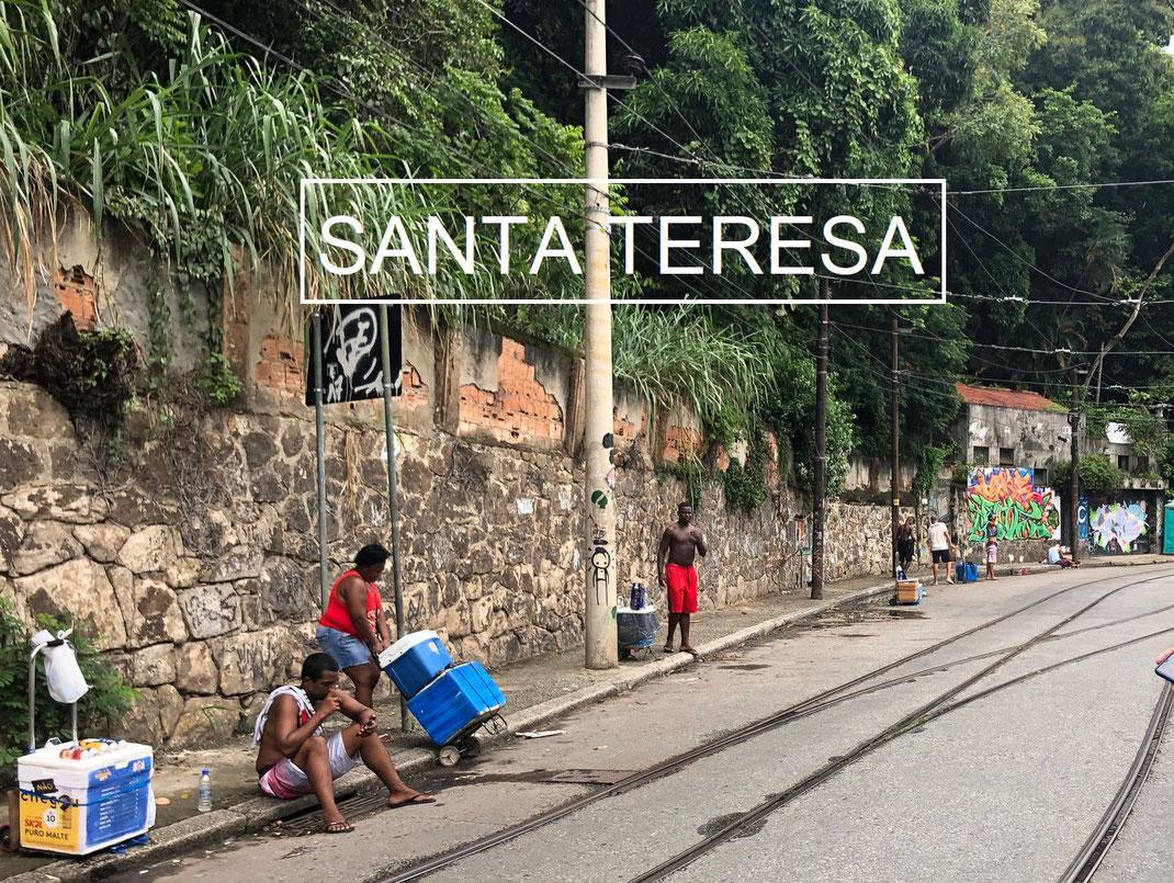 Dans les rues de Santa Teresa