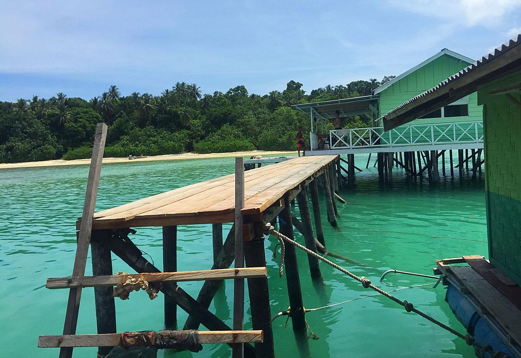 floating surf house