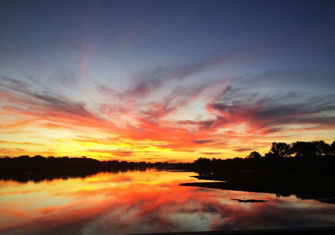Coucher de soleil sur la rivière Sabie - Kruger