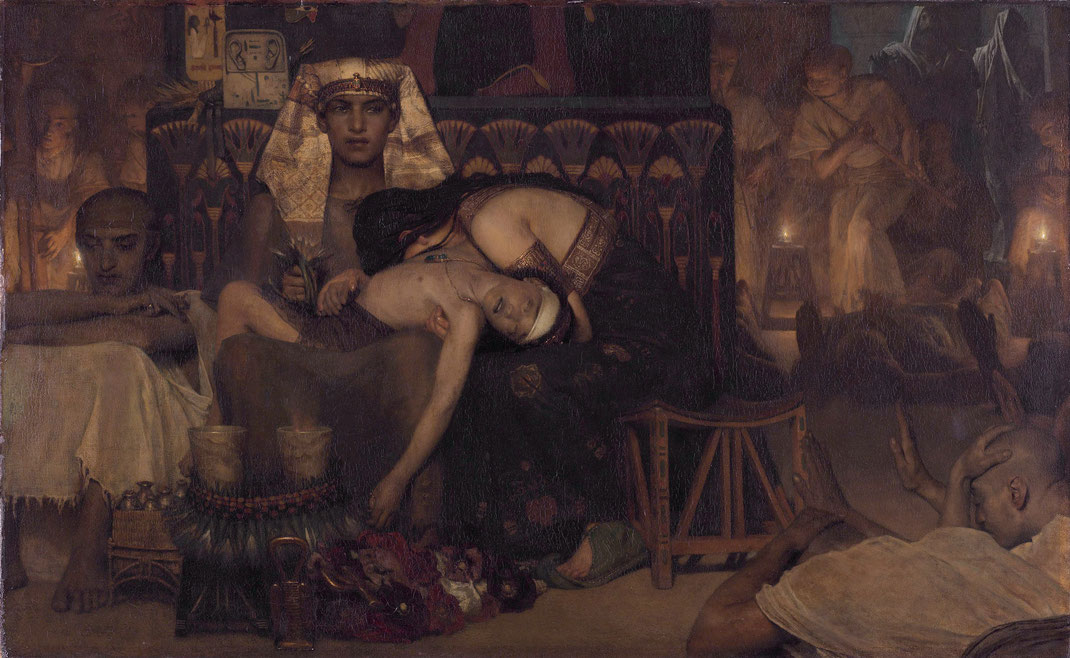 """The Death of the Pharaoh Firstborn Son (1872)"" - Lawrence Alma-Tadema"