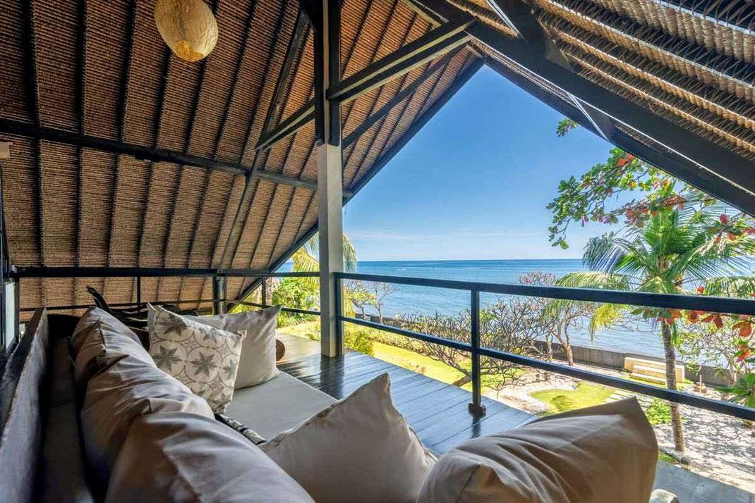 North Bali beachfront villa for sale.