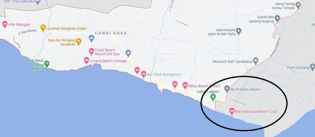 Indication location