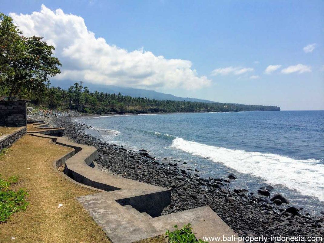 Beachfront land for sale in Seraya, East Bali