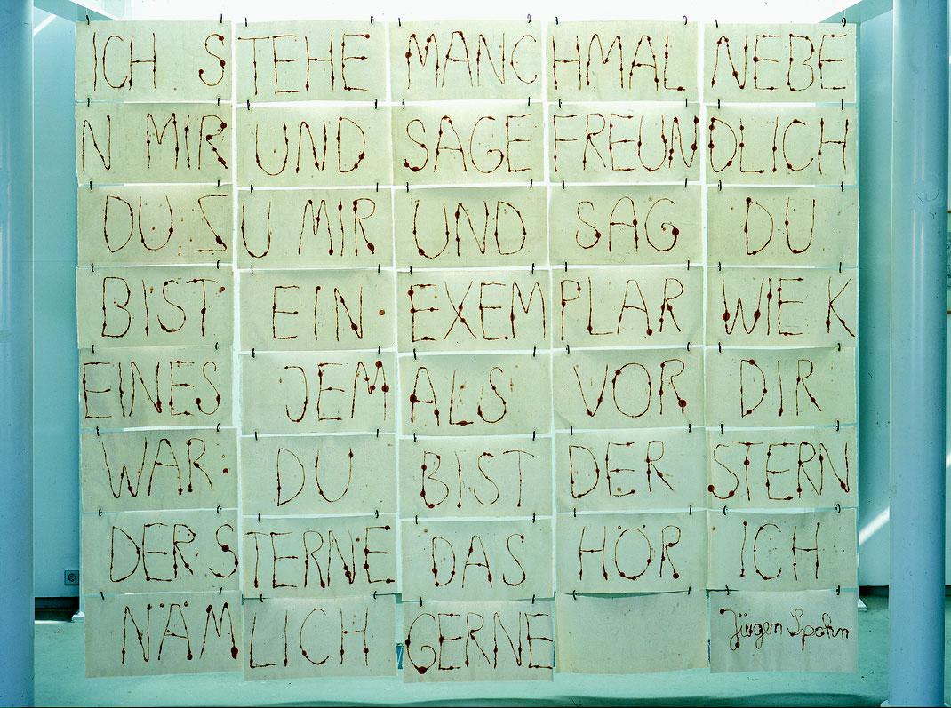 Papierinstallation, Japanpapier Draht, Jürgen Spohn