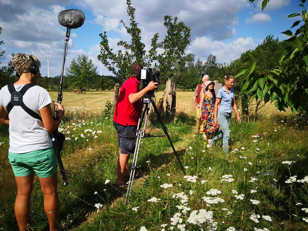 NDR Nordtour Kameramann Tontechnik Obstwiese