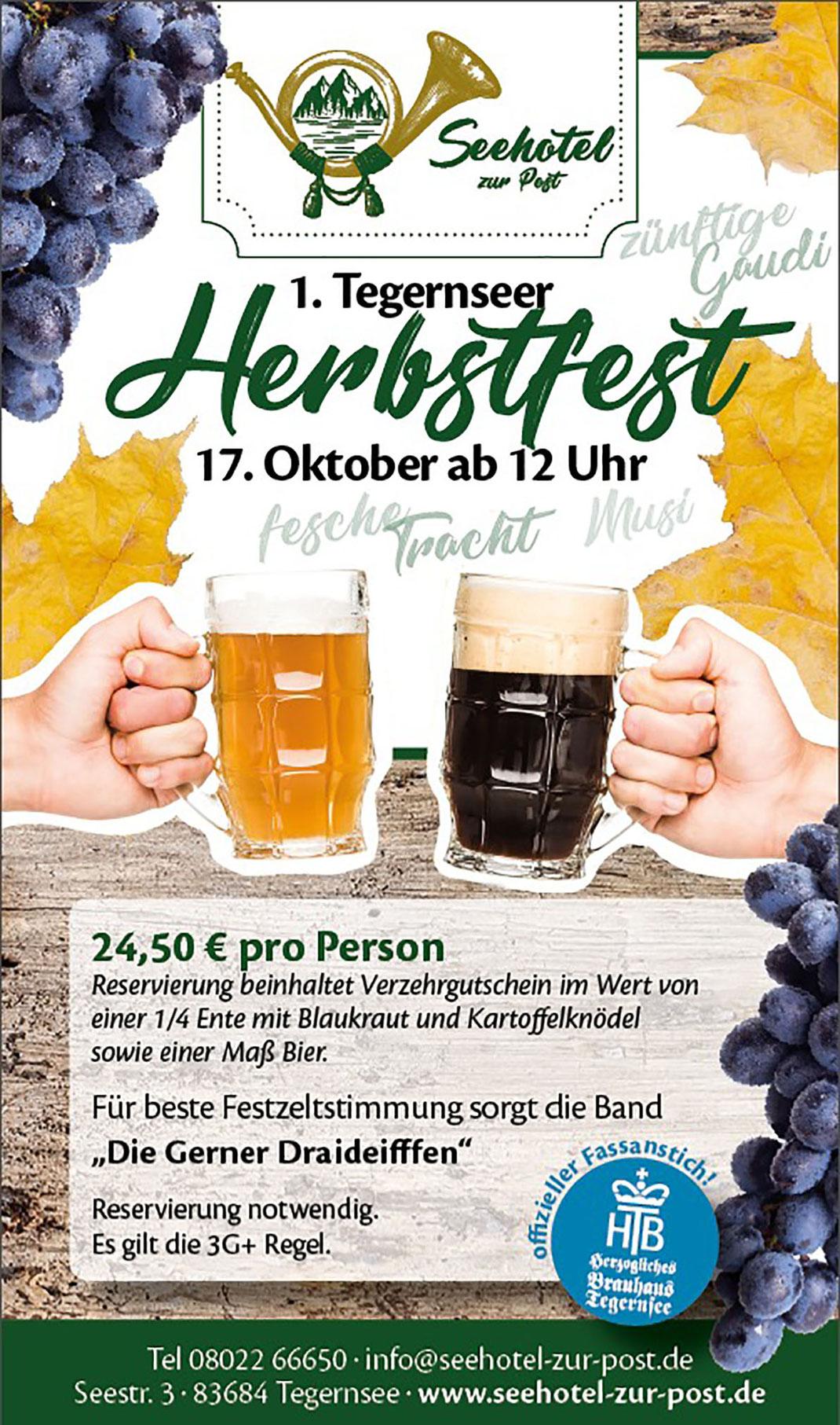 Herbstfest 2021 Seehotel zur Post Tegernsee
