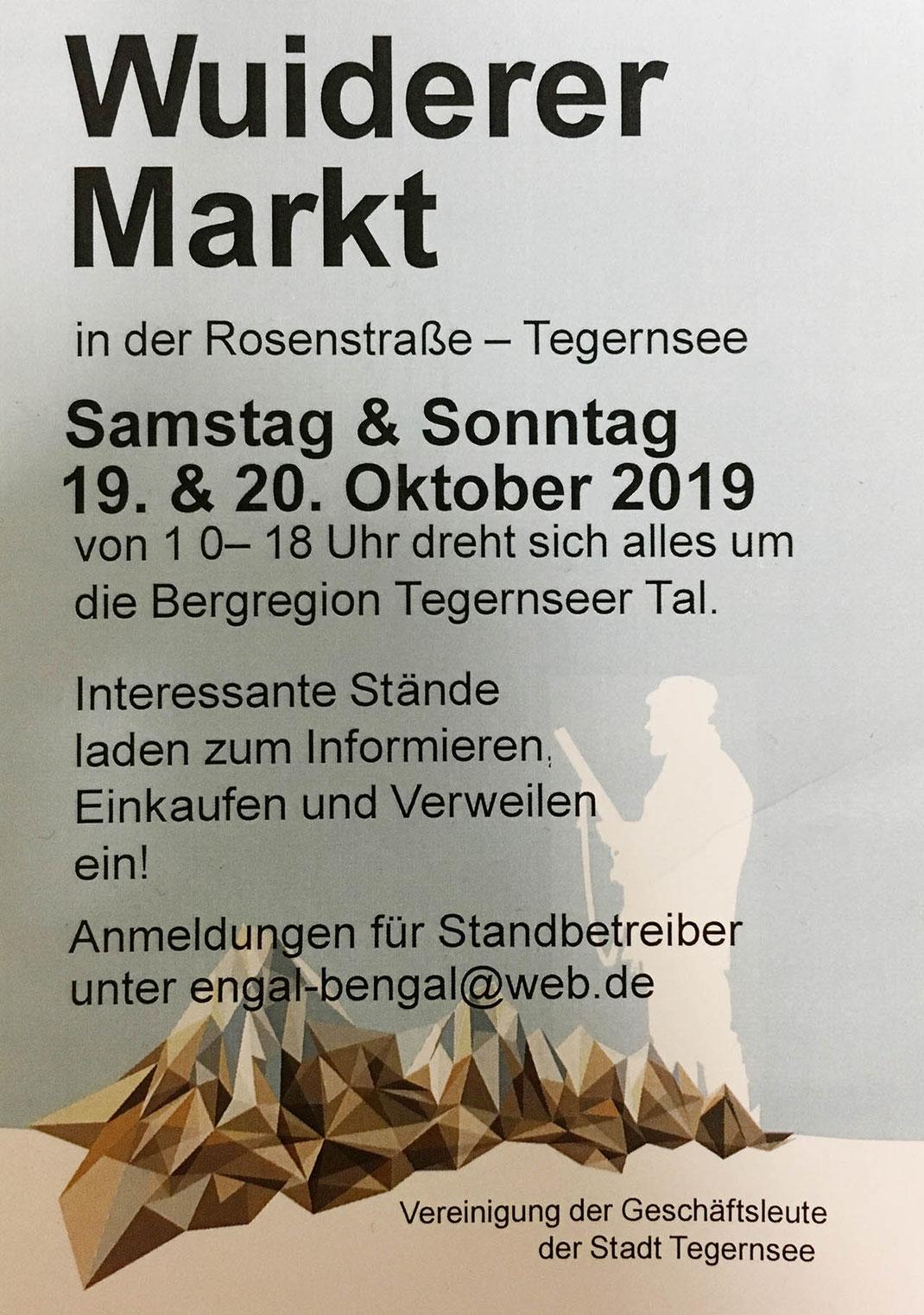 Wuiderer Markt Tegernsee in der Rosenstraße.
